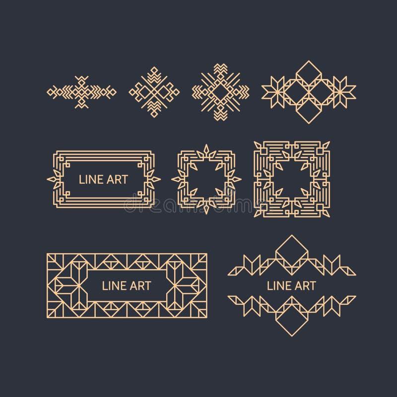 Retro- Rahmen mit Platz für Text Weinlese-Dekorations-Element lizenzfreie abbildung