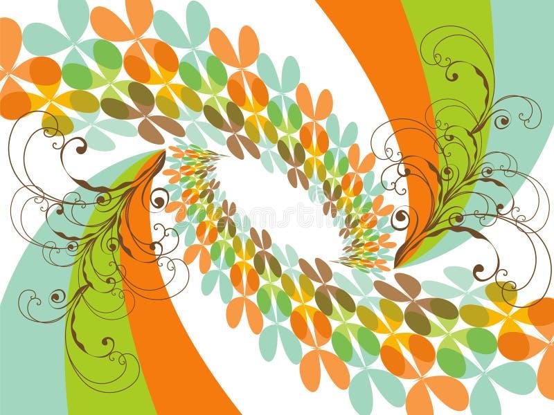 Retro Rainbow del trifoglio della farfalla illustrazione di stock