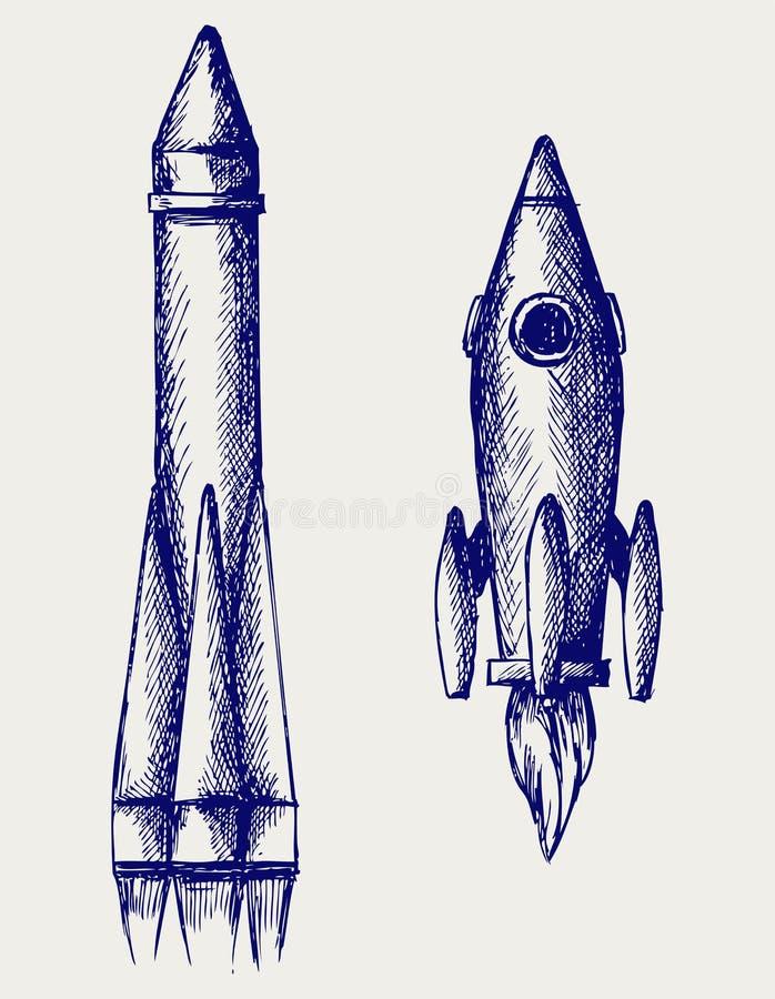 Retro- Rakete vektor abbildung