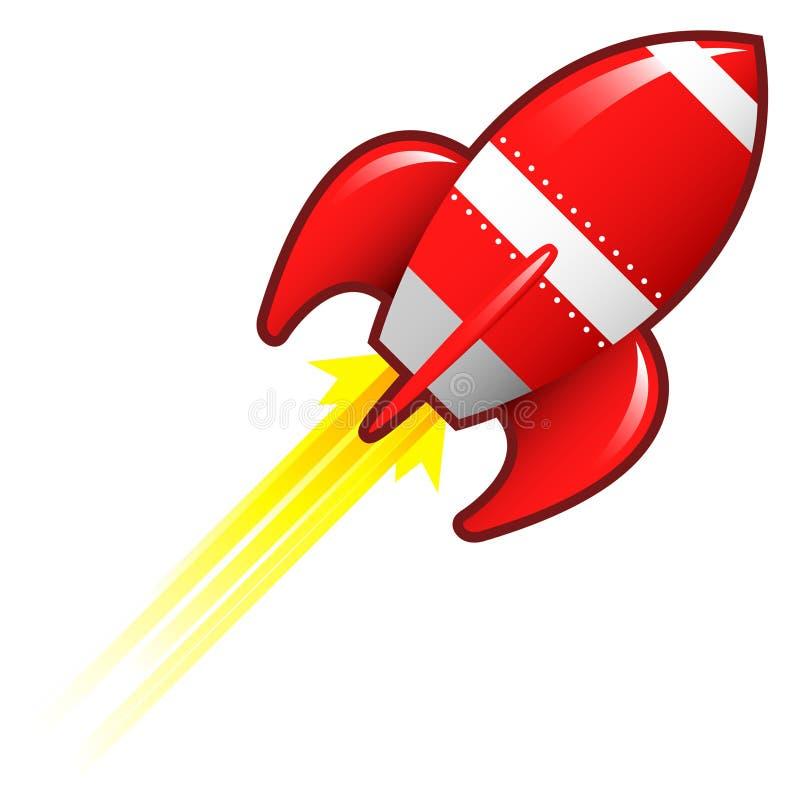 retro raketship för illustration royaltyfri illustrationer