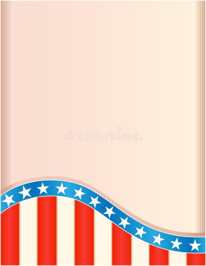 Retro rama z flaga amerykańska falowym wzorem ilustracja wektor