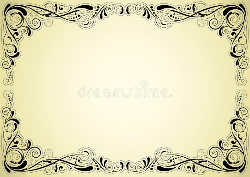 Retro ramdesign royaltyfri illustrationer