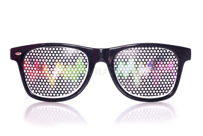Retro raving party glasses. Studio cutout royalty free stock photos