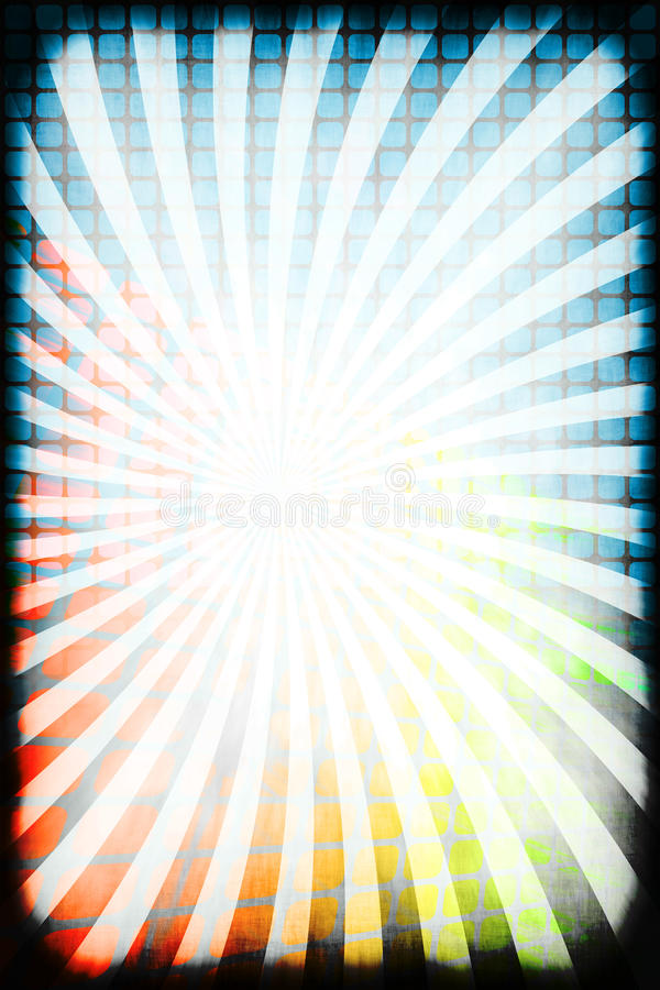 Download Retro Rays Grunge Border stock illustration. Illustration of colorful - 16763975