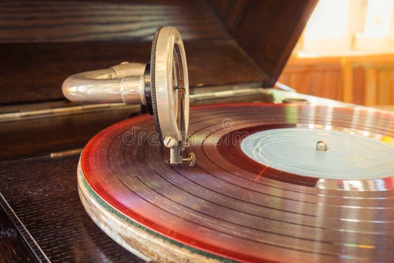 Retro record player royalty free stock photo