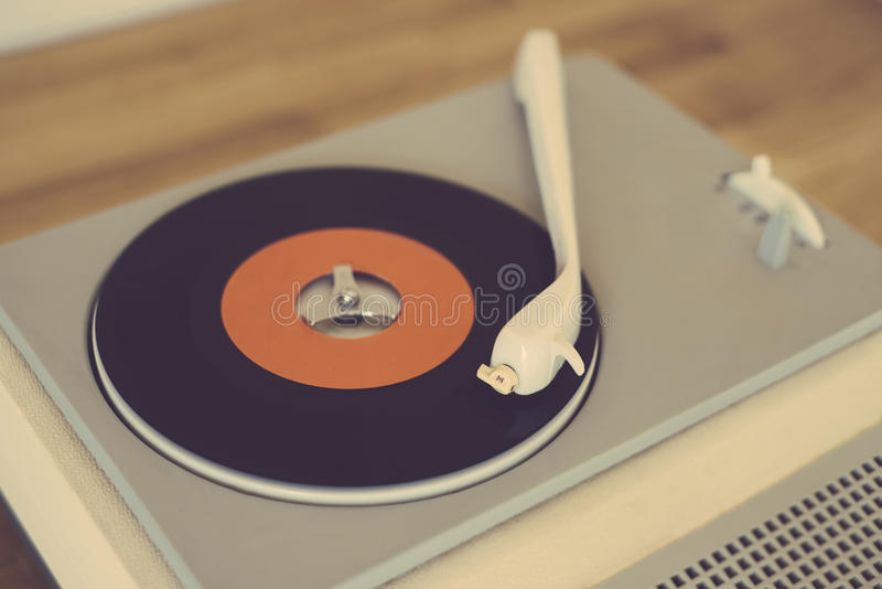 Retro record player. From the sixties royalty free stock photos