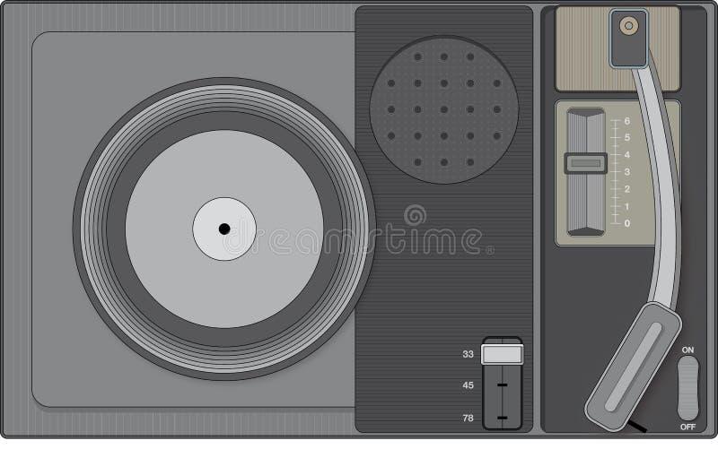 Retro record player. Stylish illustration of a retro record player royalty free illustration