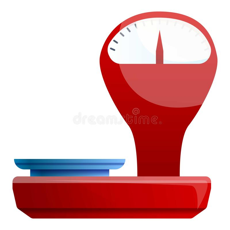 Retro red scales icon, cartoon style royalty free illustration
