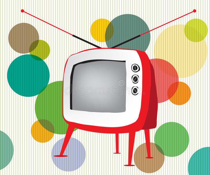 Download Retro red TV stock vector. Image of design, style, media - 20935867