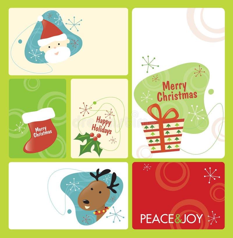 Retro Reeks 1 van de Markering van Kerstmis royalty-vrije illustratie