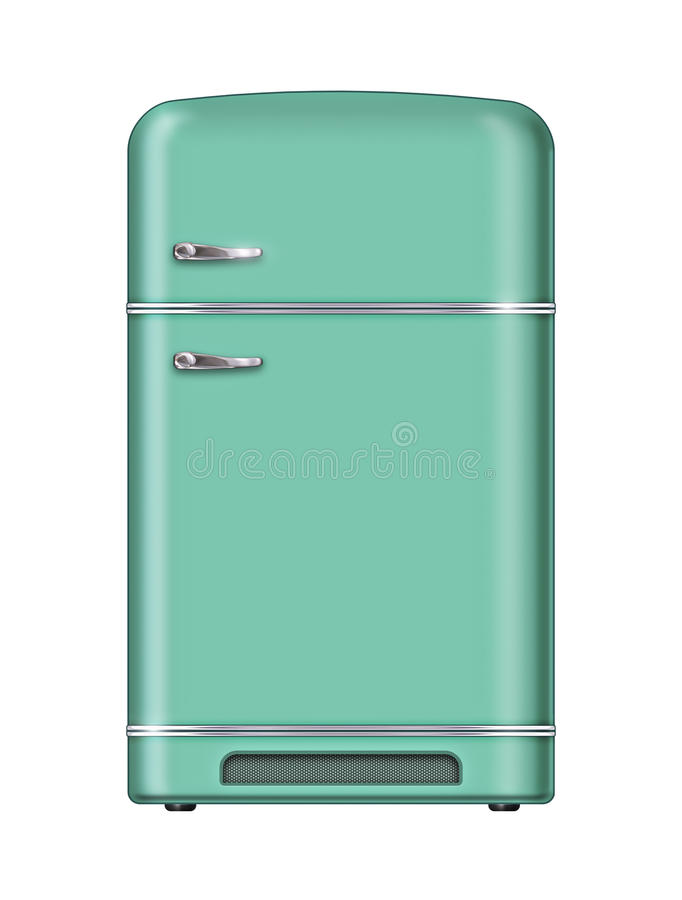Download Retro refrigerator stock illustration. Image of handle - 40397417
