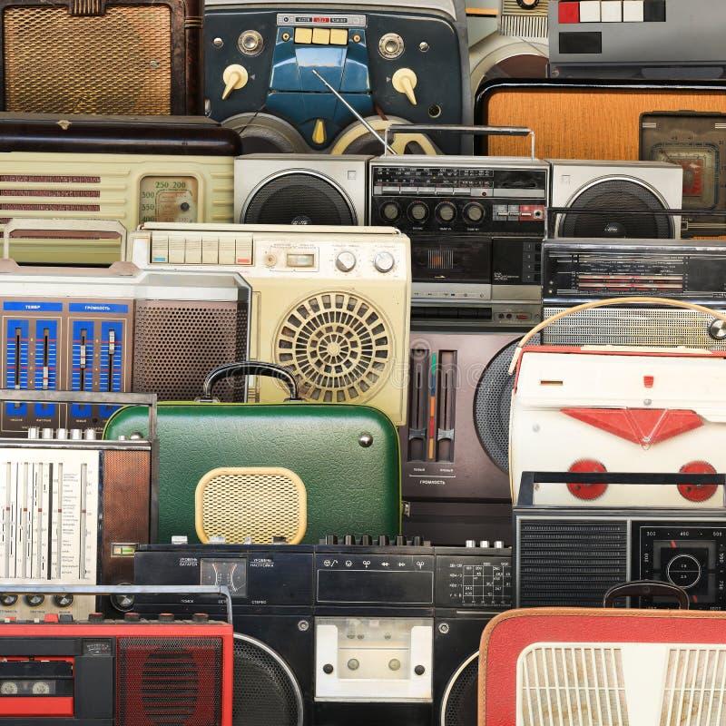 Retro registratore, audio sistema fotografie stock