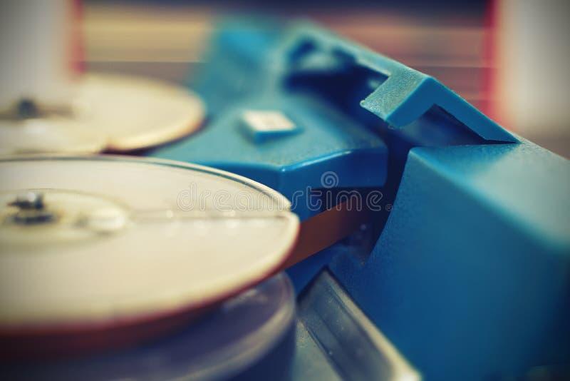 Retro registratore della bobina fotografia stock libera da diritti