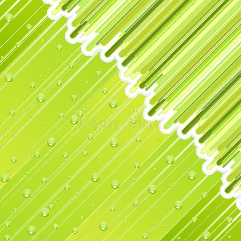 Retro- regnerischer Tag lizenzfreie abbildung