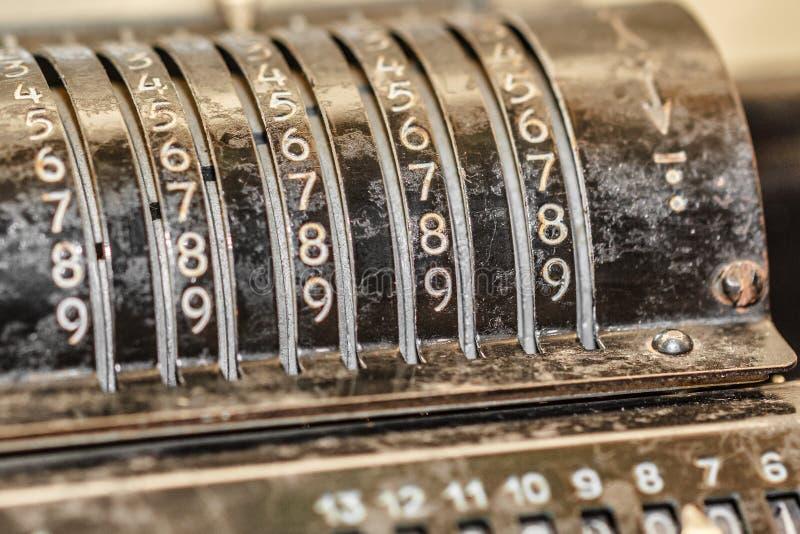Retro rekenmachine royalty-vrije stock afbeelding