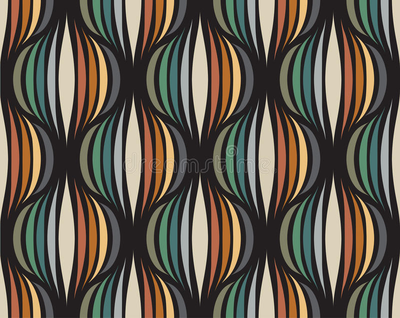 Retro repetitive wallpaper - Vintage vector pattern stock illustration