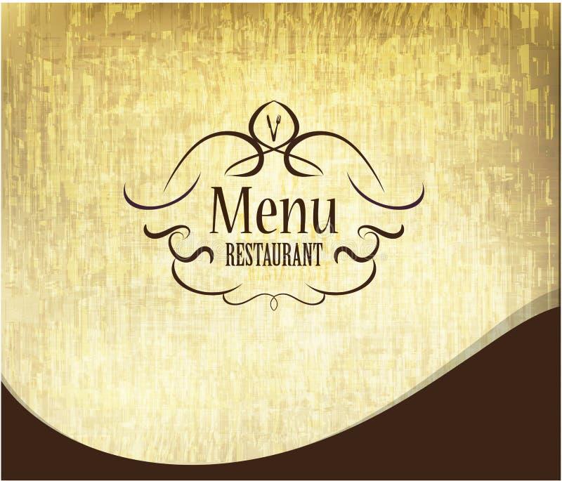 Retro restaurant menu first page design. / grunge style stock illustration
