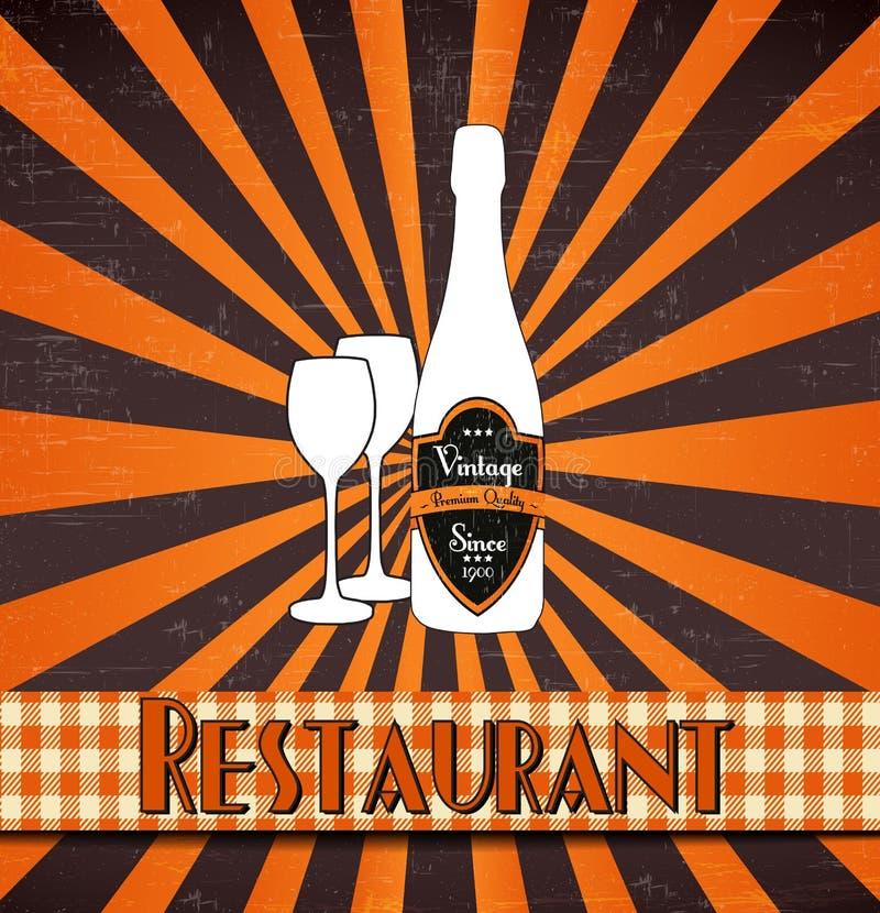 Retro restaurantmenu vector illustratie