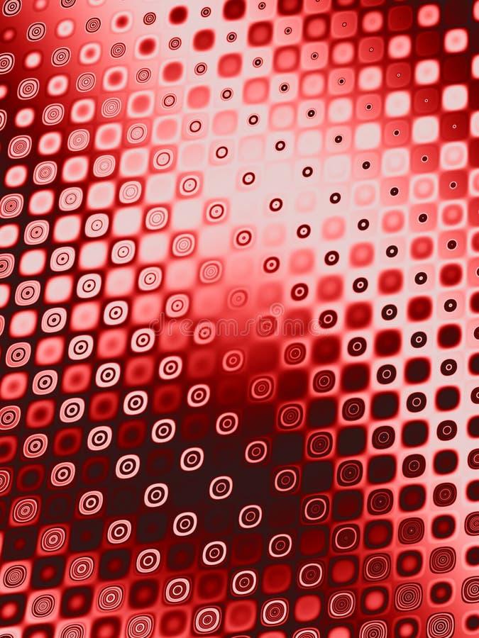 Retro reticoli - cerchi rossi illustrazione vettoriale