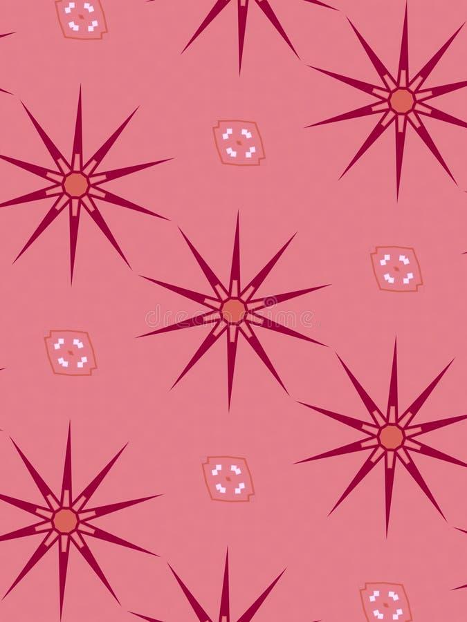 Retro reticoli di stella diagonali illustrazione vettoriale