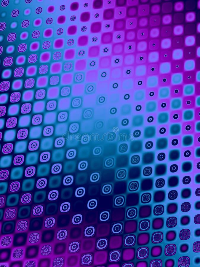 Retro reticoli - porpora blu illustrazione di stock
