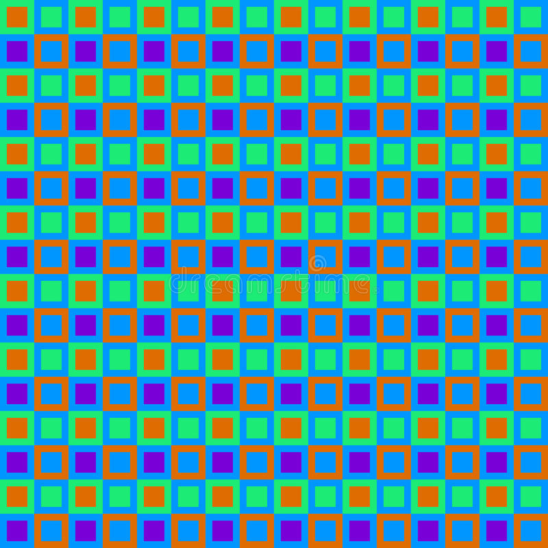 Retro reticolo dei quadrati illustrazione vettoriale