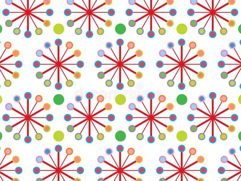 Retro reticolo della rotella di colore illustrazione vettoriale
