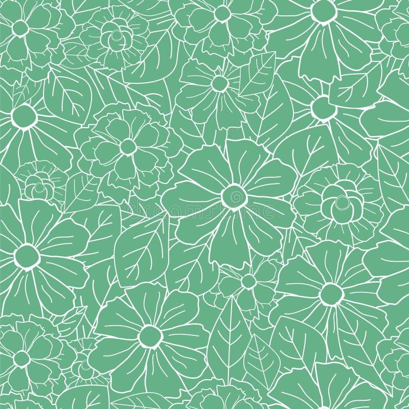 Retro reticolo floreale royalty illustrazione gratis