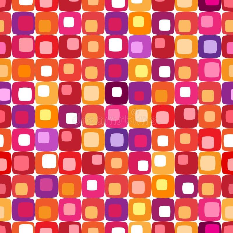 Retro reticolo quadrato variopinto illustrazione di stock