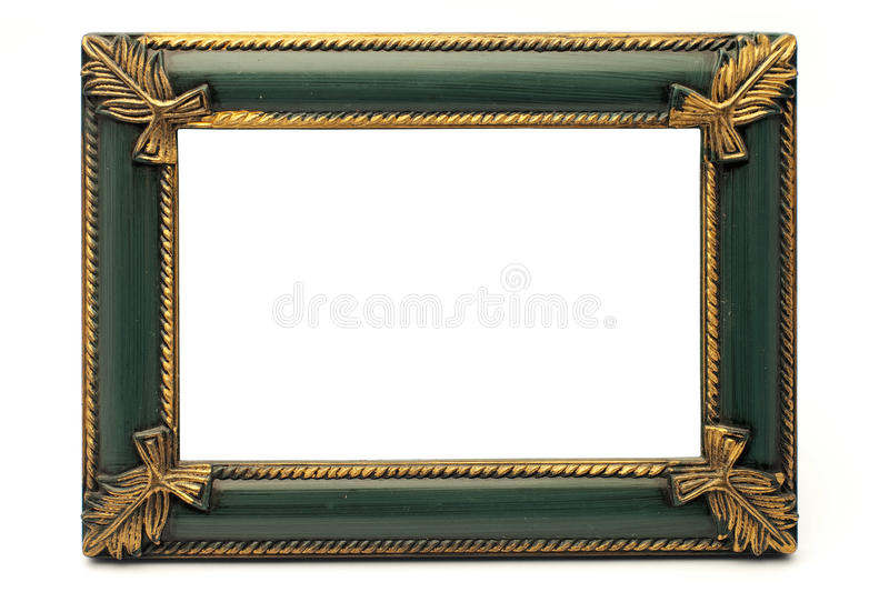 Download Retro Revival Old Gold And Green Frame (No#1) Stock Photo - Image: 19404130