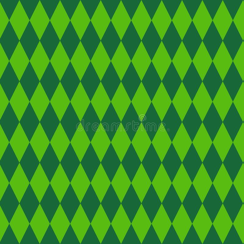 Free Retro Rhombus Background Green Geometrical Ornament Seamless Pattern For Patrick Day Royalty Free Stock Image - 110731436