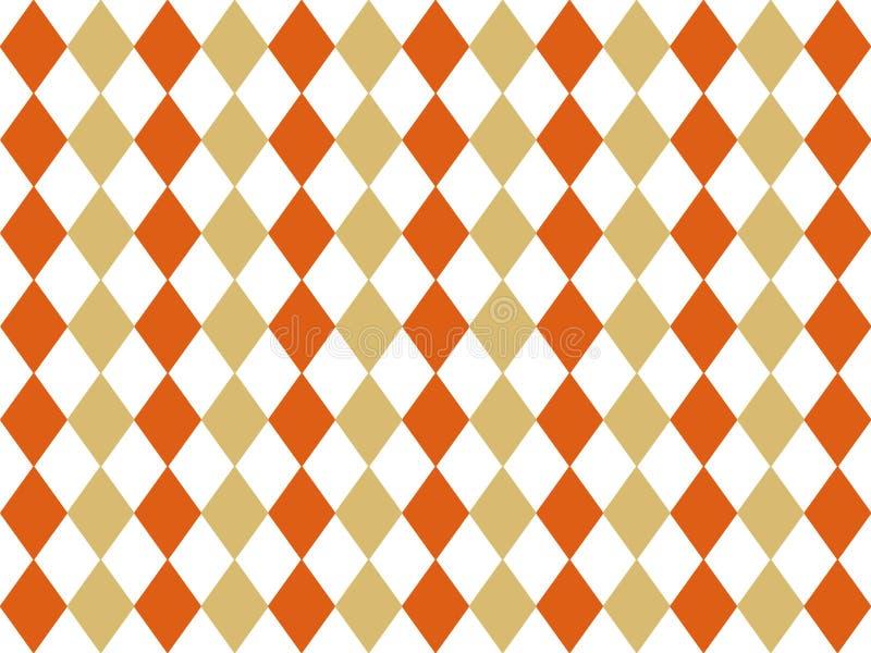 Retro rhombus tła projekt Bezszwowy rocznika tło Harmoniczni jesień kolory ilustracji