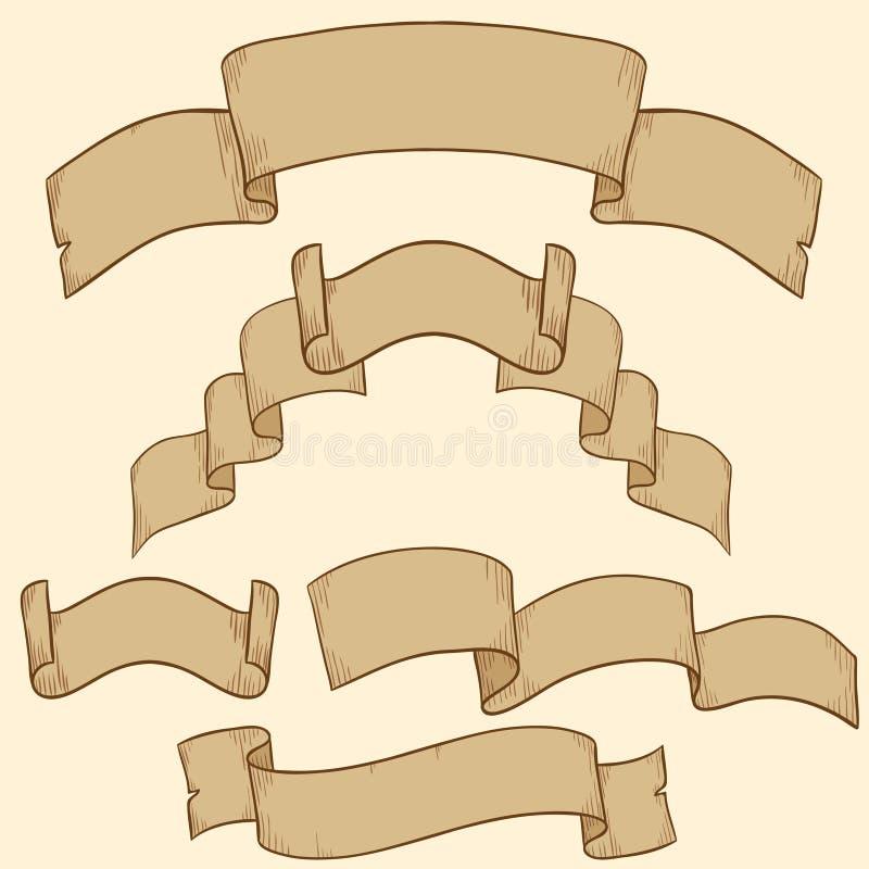 Download Retro Ribbon Banner Set Design Element Stock Vector - Image: 20669643