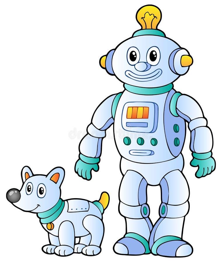Retro robot 2 van het beeldverhaal stock illustratie