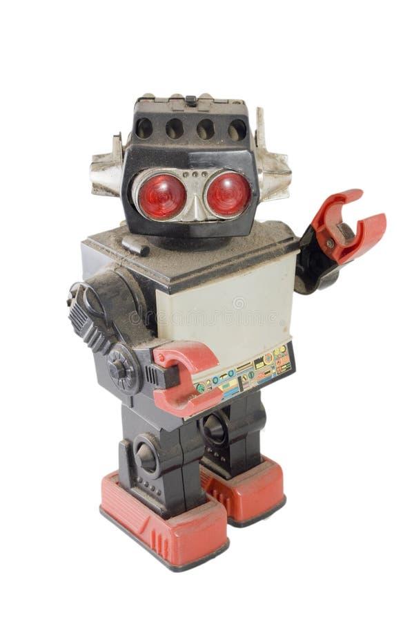 retro robot obrazy stock