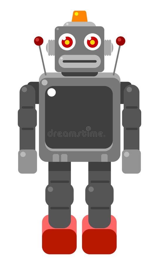 Retro Robot. Vintage retro graphic robot illustration royalty free illustration