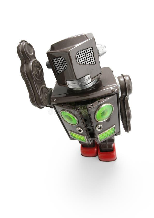 retro robota cyny zabawka zdjęcie royalty free