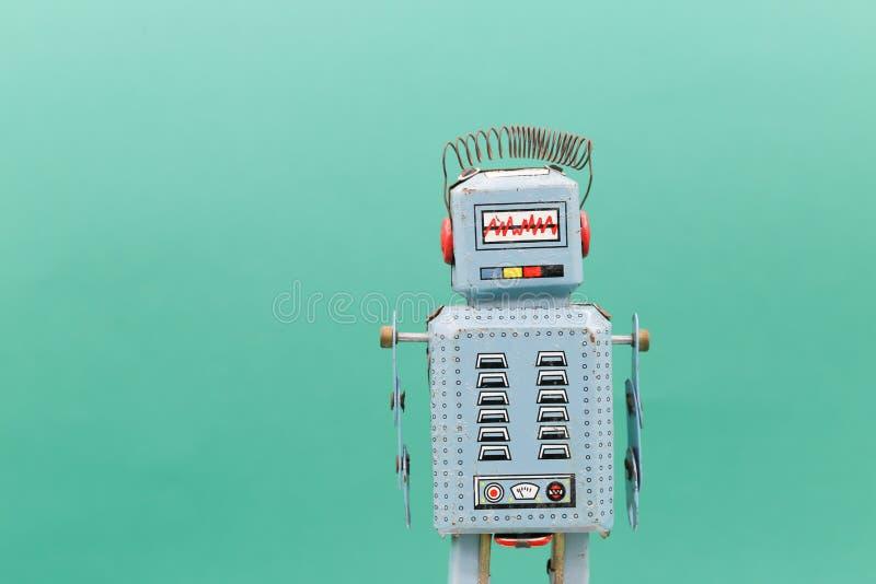 Retro robotleksak arkivfoton