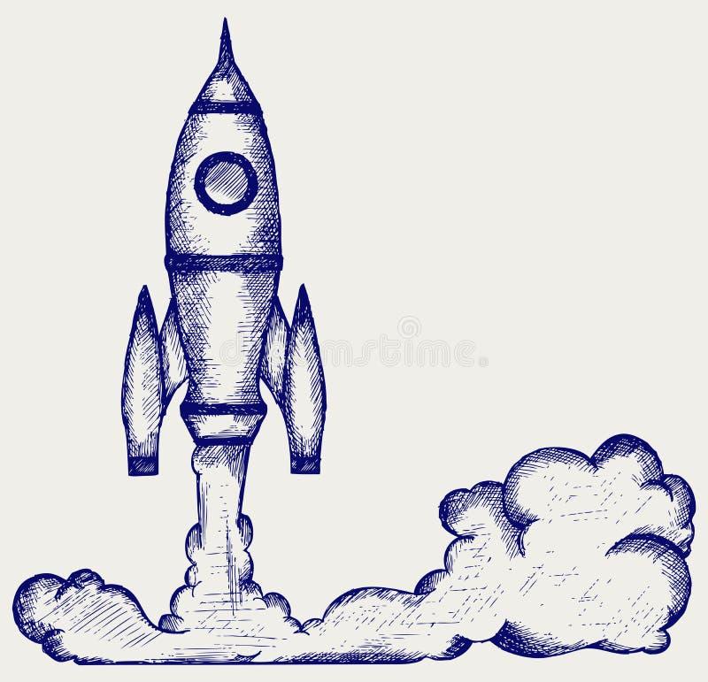 Retro rocket royalty free illustration