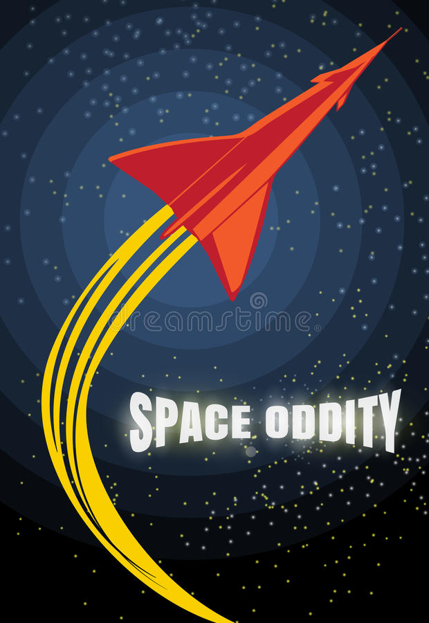 Retro rocket launch. Vintage poster about space travel. Stars and galaxy backdrop. Retro vector design template. vector illustration