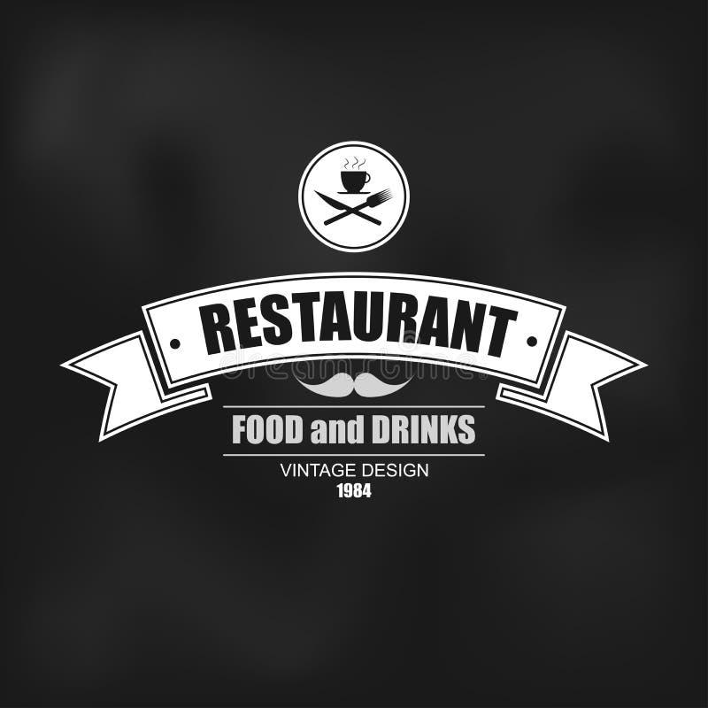 Retro rocznik insygnia, logotyp dla restauraci, etykietki lub odznaka projekta wektorowego szablonu, royalty ilustracja