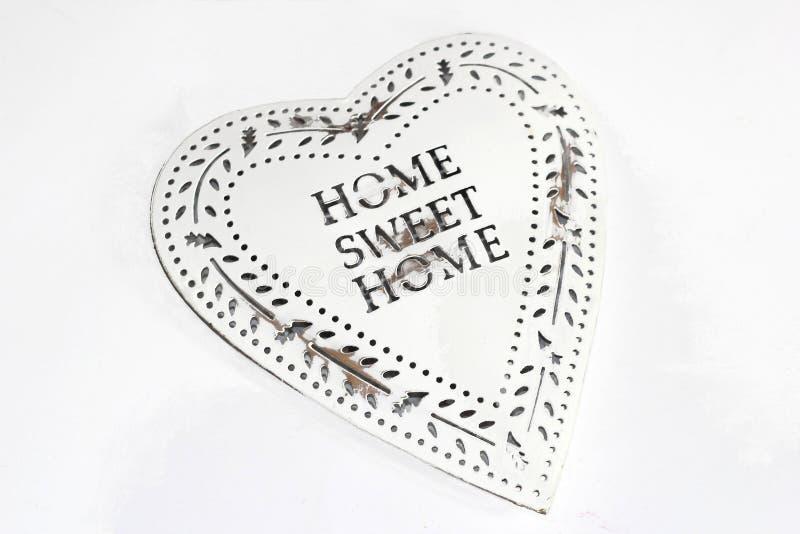 Retro rocznika stylu serce, Domowy cukierki dom zdjęcie stock