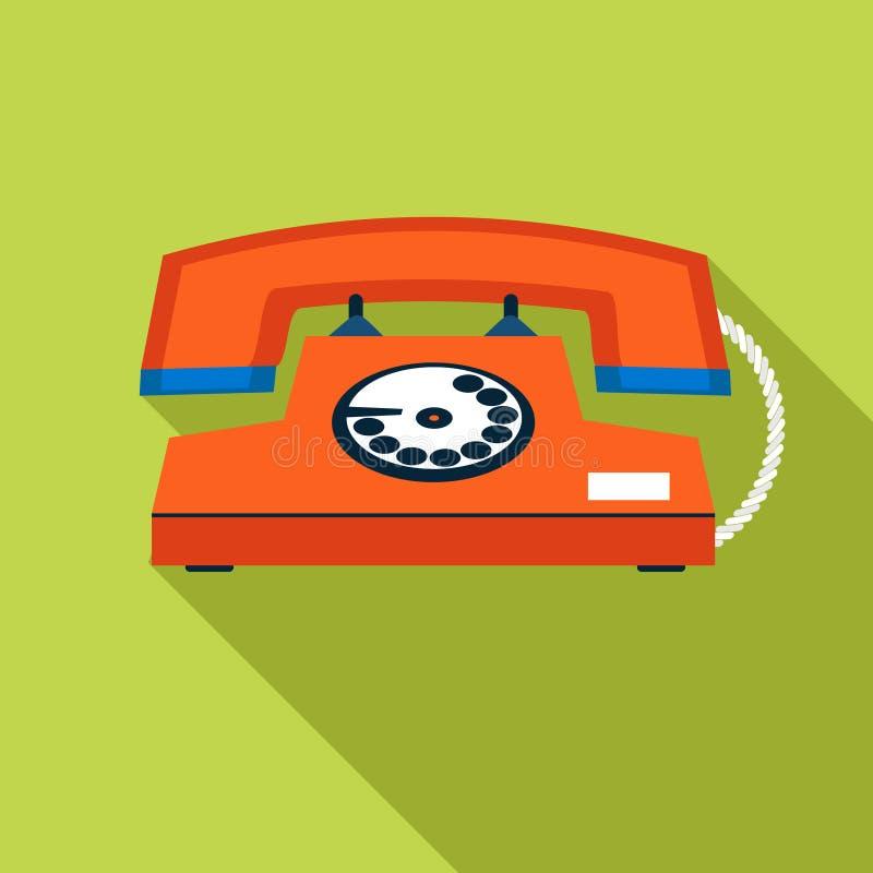 Retro rocznika symbolu telefonu Komunikacyjna ikona ilustracja wektor