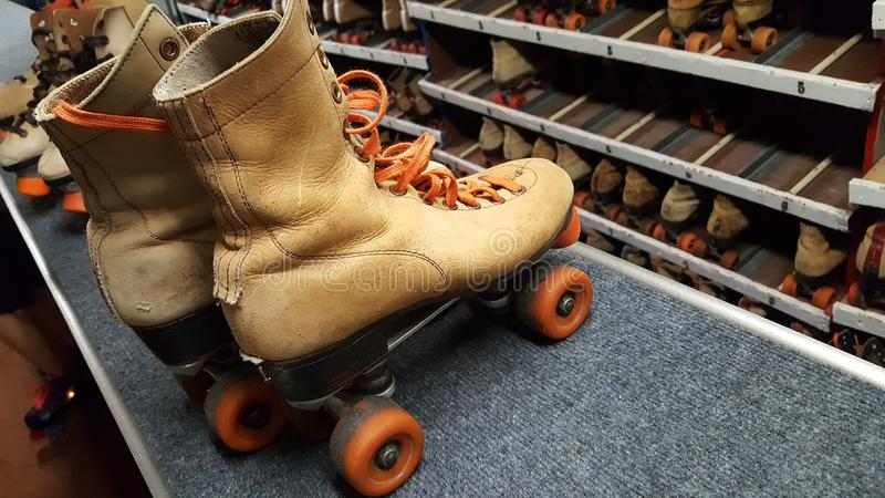 Retro Rollerskating royalty free stock photography