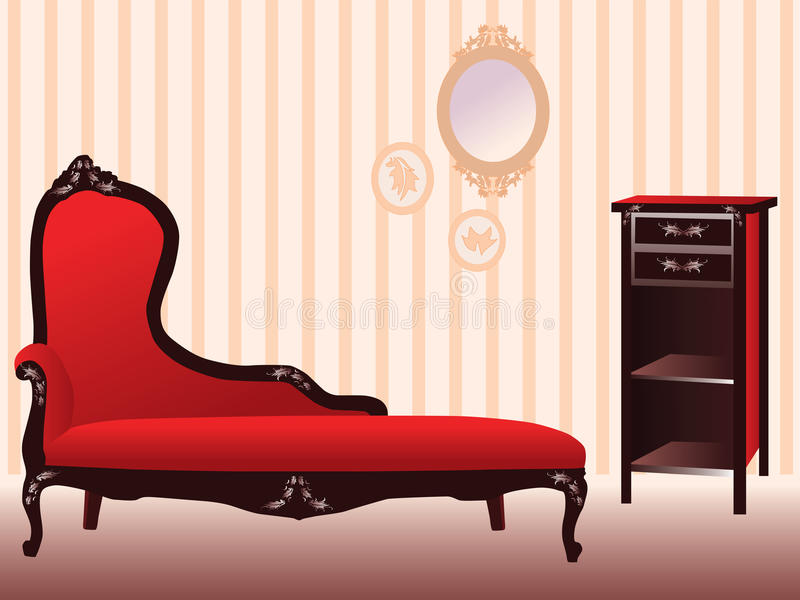 Download Retro room stock vector. Image of modern, fashion, lounge - 13000654
