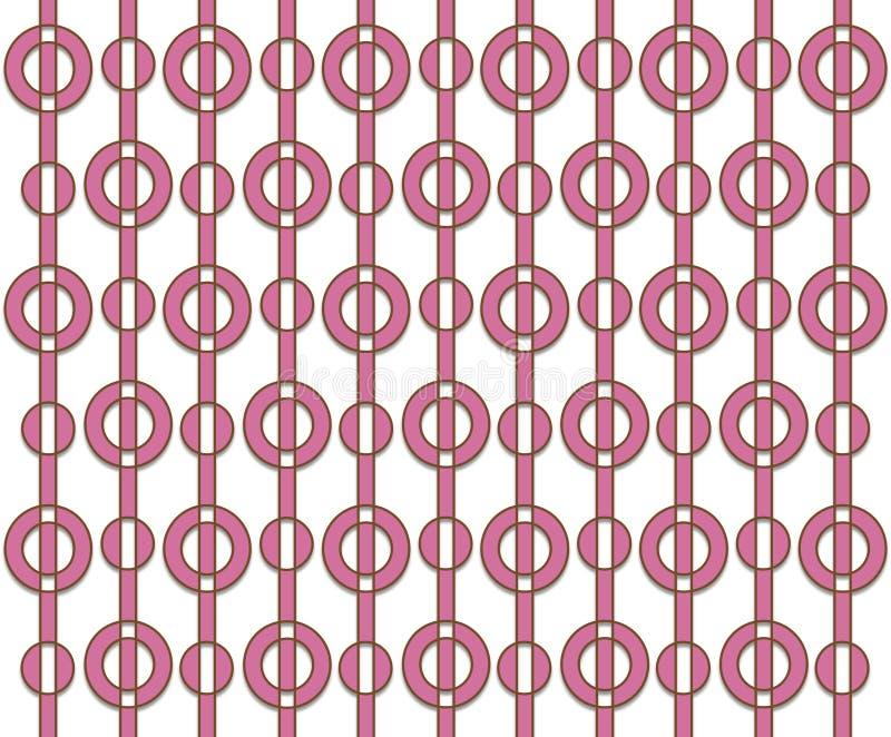 Retro rosa färgmodell stock illustrationer