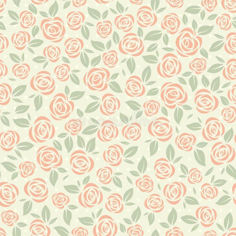 Download Retro Roses Pattern Stock Image - Image: 28993971