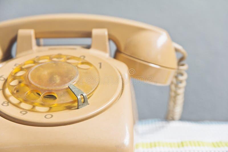 Retro rotary dial telephone. Still life image of retro rotary dial telephone royalty free stock photography