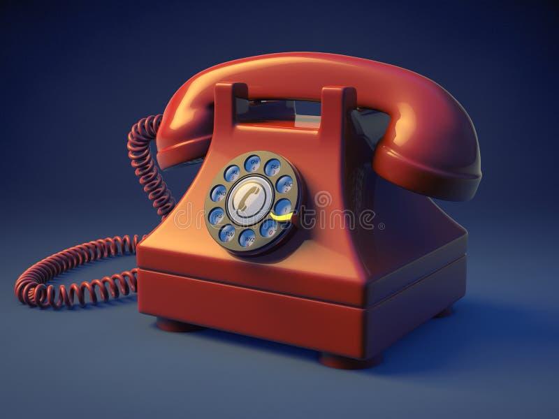 Download Retro Rotary Phone stock illustration. Illustration of ring - 28863883