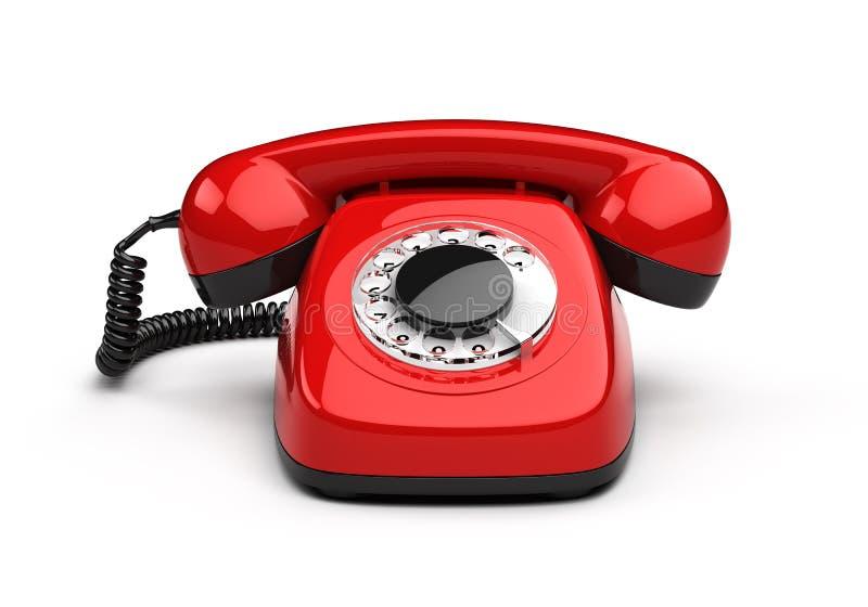 Retro- rotes Telefon stock abbildung